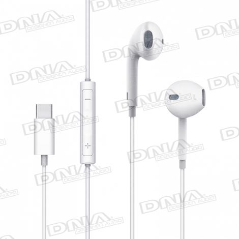 Mcdodo Type-C Direct In-Ear D-Shaped Headphones with Inline Mic and Volume Control – White