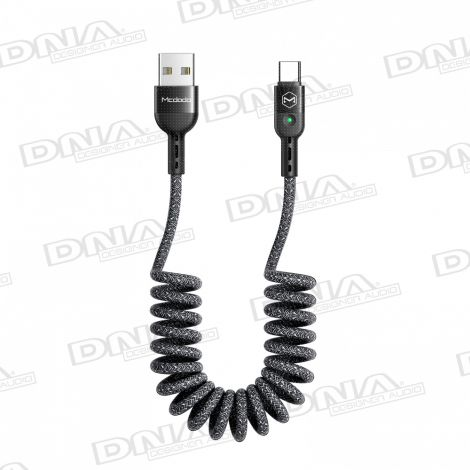 Mcdodo Heavy Duty Coiled Type-C to USB Lead - 1.8mtr Max