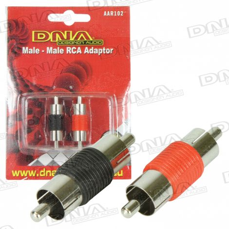 Male To Male RCA Joiners - 2 Pack