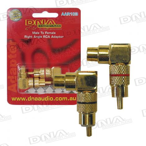 RCA Male To RCA Female Audio Adaptor - 2 Pack