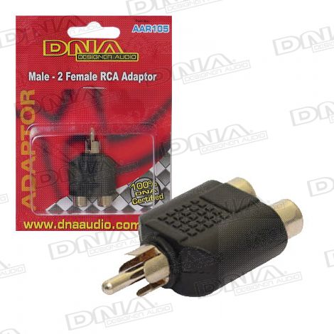 RCA Male To 2 RCA Female Adaptor - 1 Pack