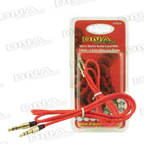3.5mm Plug To 3.5mm Plug Audio Lead - 60cm