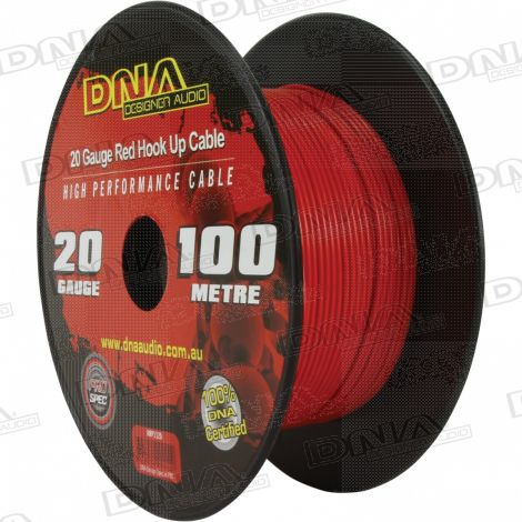 20 Gauge Hookup Power Cable Red - 100 Metres