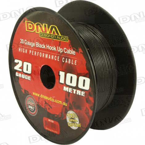 20 Gauge Hookup Power Cable Black - 100 Metres