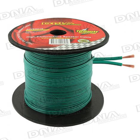 16 Gauge Green Speaker Cable - 100 Metres