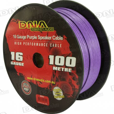 16 Gauge Speaker Cable Purple - 100 Metres