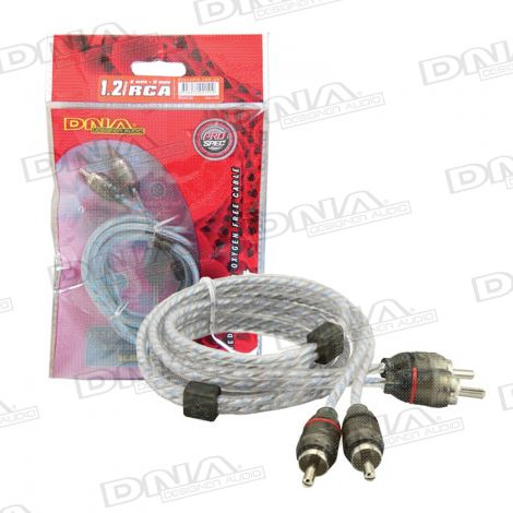 Bulk 1.2 Metre 2 To 2 RCA Cable - Blue