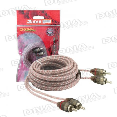 Bulk 3.0 Metre 2 To 2 RCA Cable - Red