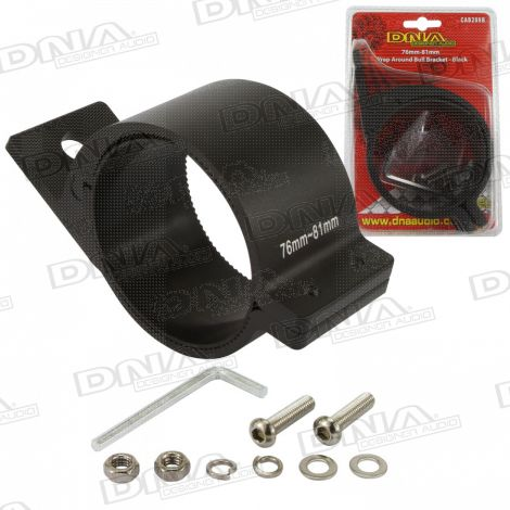 76mm-81mm Wrap Around Bull Bar Bracket - Black