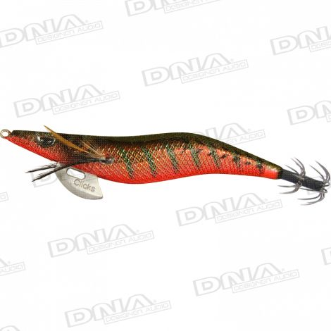 Clicks 3.5 Size Squid Lure Colour 093 - Aji / Red Tiger