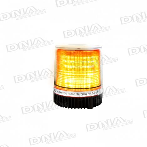 Round Amber 10 LED Light With Magnet