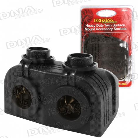 Heavy Duty Twin Surface Mount Accessory Sockets