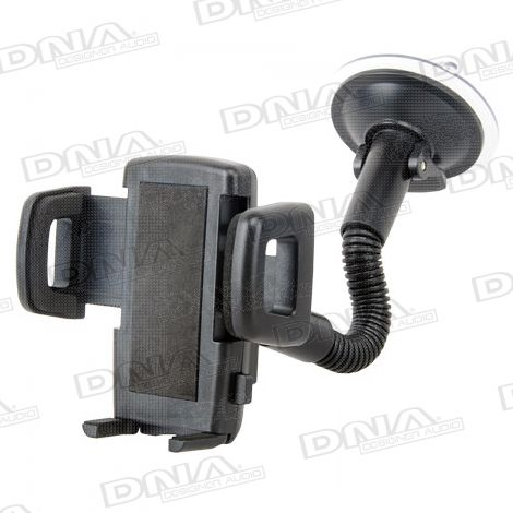 Mobile Windscreen Gooseneck Suction Mount 35-83mm