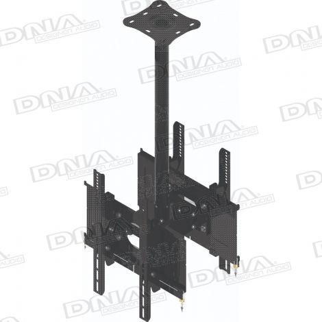 Double LCD Ceiling Mount - 27 - 42 Inch