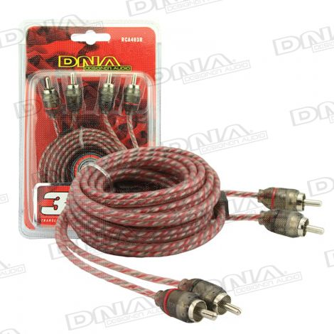 3 Metre 2 To 2 RCA Pro Spec Cable - Red