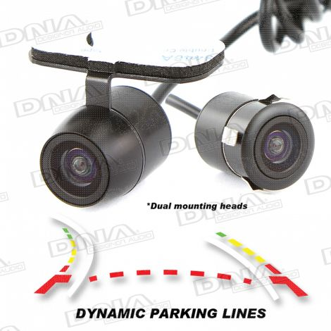Reverse Camera Butterfly & Flush Mount With Dynamic Parking Lines - PAL
