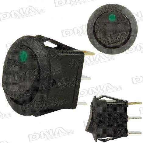 Rocker Switch On/Off - Green LED