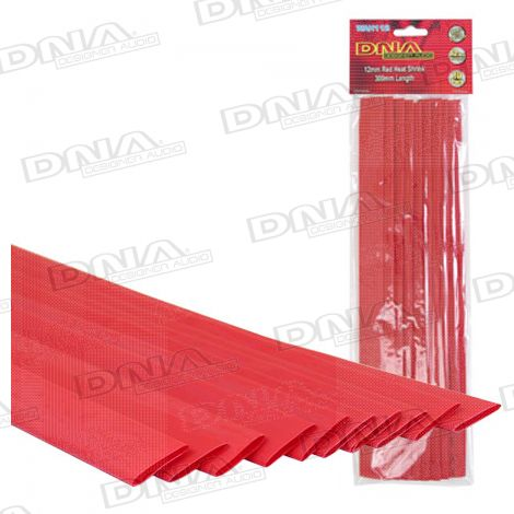 Heatshrink Red 12mm - 10 Pack