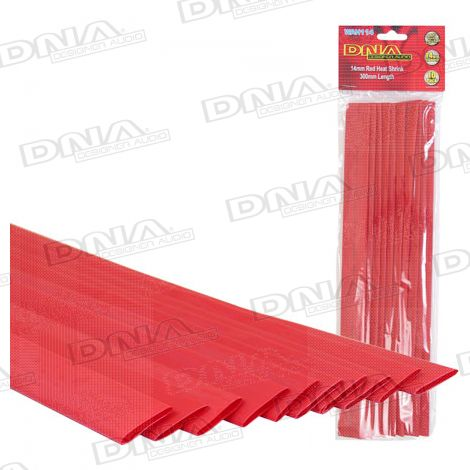 Heatshrink Red 14mm - 10 Pack