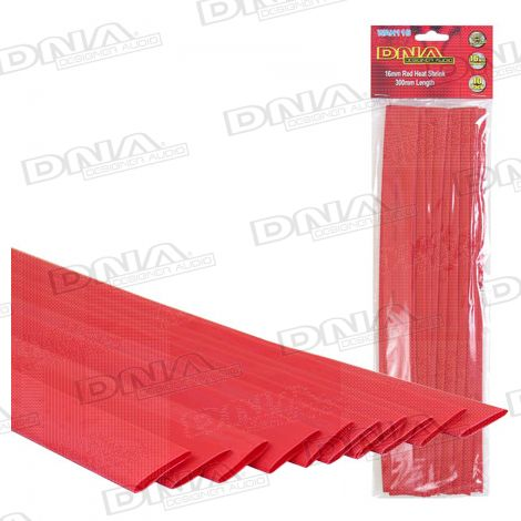 Heatshrink Red 16mm - 10 Pack
