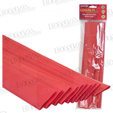 Heatshrink Red 20mm - 10 Pack