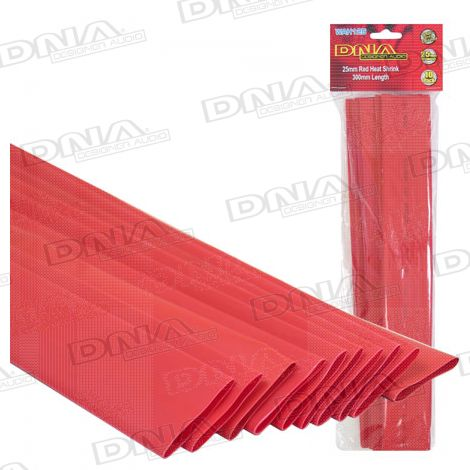 Heatshrink Red 25mm - 10 Pack