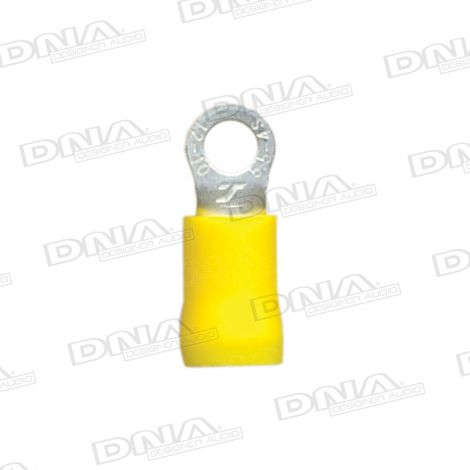 4.3mm Yellow Ring Crimp Terminals 100 Pack
