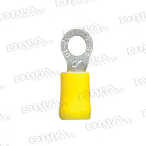 5.3mm Yellow Ring Crimp Terminals 100 Pack