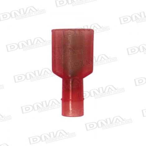 6.35mm Red High Temperature Fully Insulated Male Crimp Terminals 100 Pack