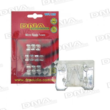 25 Amp Micro Blade Fuse - 10 Pack