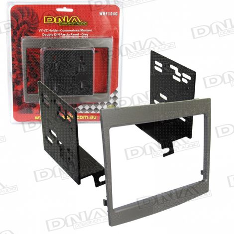 Double Din Fascia To Suit Holden Commodore VY-VZ Grey
