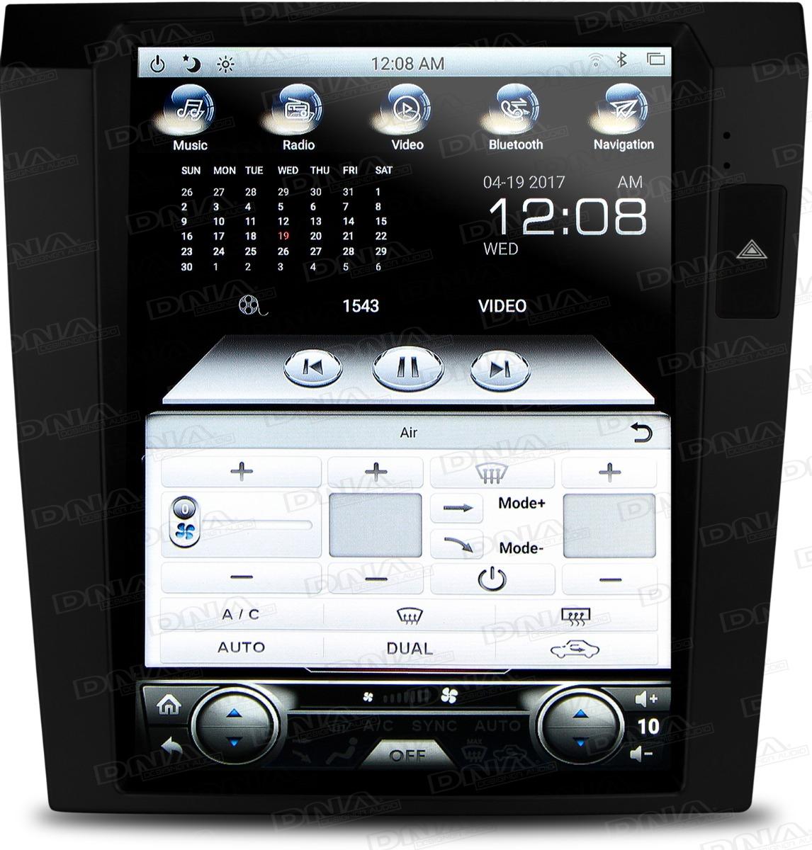 Android Head Unit To Suit Holden VE Series 1 - Black